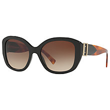 Buy Burberry BE4248 Square Sunglasses, Black/Brown Gradient Online at johnlewis.com