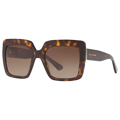 Dolce & Gabbana DG4310 Oversize Square Sunglasses, Tortoise/Brown Gradient