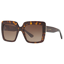 Buy Dolce & Gabbana DG4310 Oversize Square Sunglasses, Tortoise/Brown Gradient Online at johnlewis.com