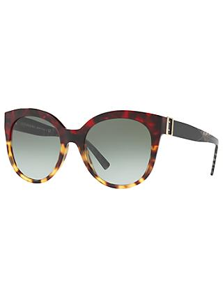 Burberry BE4243 Cat's Eye Sunglasses, Tortoise/Green Gradient