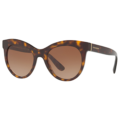 Dolce & Gabbana DG4311 Oval Sunglasses, Tortoise/Brown Gradient