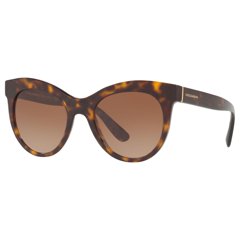 Dolce & Gabbana Dolce & Gabbana DG4311 Oval Sunglasses, Tortoise/Brown Gradient