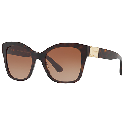 Dolce & Gabbana DG4309 Square Sunglasses, Tortoise/Brown Gradient