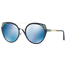Buy Bvlgari BV6095 Round Sunglasses Online at johnlewis.com