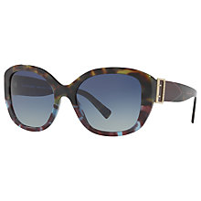 Buy Burberry BE4248 Square Sunglasses, Tortoise/Blue Gradient Online at johnlewis.com