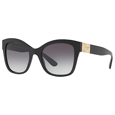 Dolce & Gabbana DG4309 Square Sunglasses, Black/Grey Gradient