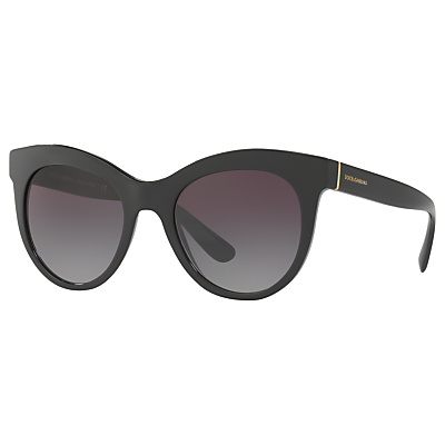Dolce & Gabbana DG4311 Oval Sunglasses, Matte Black/Purple Gradient