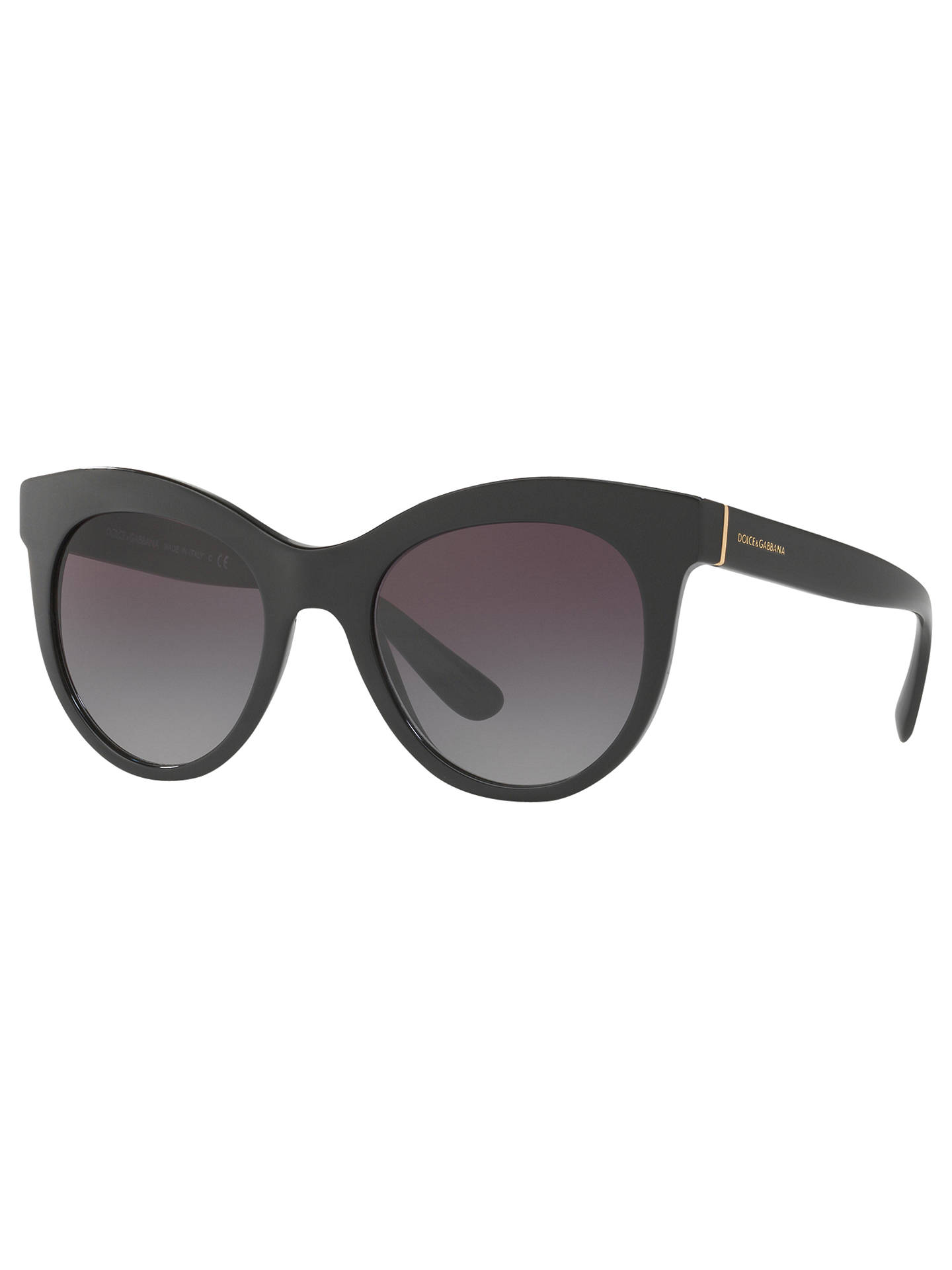 bfcf8fc1073e Buy Dolce & Gabbana DG4311 Oval Sunglasses, Matte Black/Purple Gradient  Online at johnlewis .