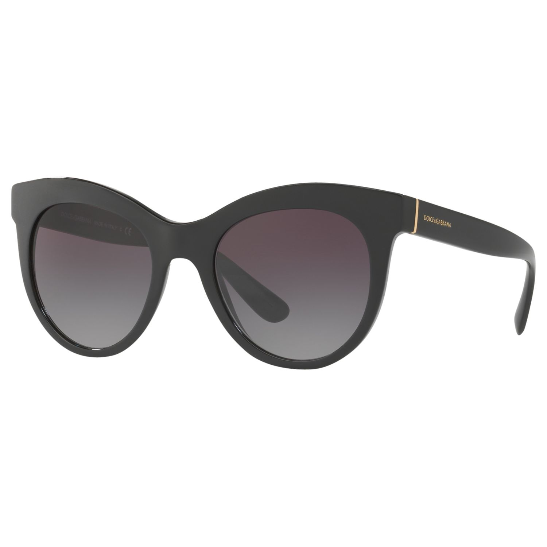Dolce & Gabbana Dolce & Gabbana DG4311 Oval Sunglasses, Matte Black/Purple Gradient