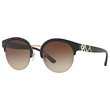 Buy Burberry BE4241 Round Sunglasses Online at johnlewis.com