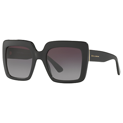 Dolce & Gabbana DG4310 Oversize Square Sunglasses, Black/Grey Gradient
