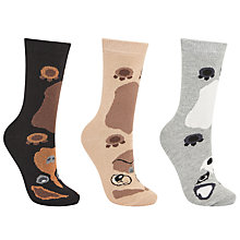 Buy John Lewis All Over Dog Print Ankle Socks, Pack of 3, Multi Online at johnlewis.com