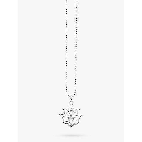 Buy thomas sabo glam soul lotus flower pendant necklace silver buy thomas sabo glam soul lotus flower pendant necklace silver online at johnlewis mozeypictures Choice Image