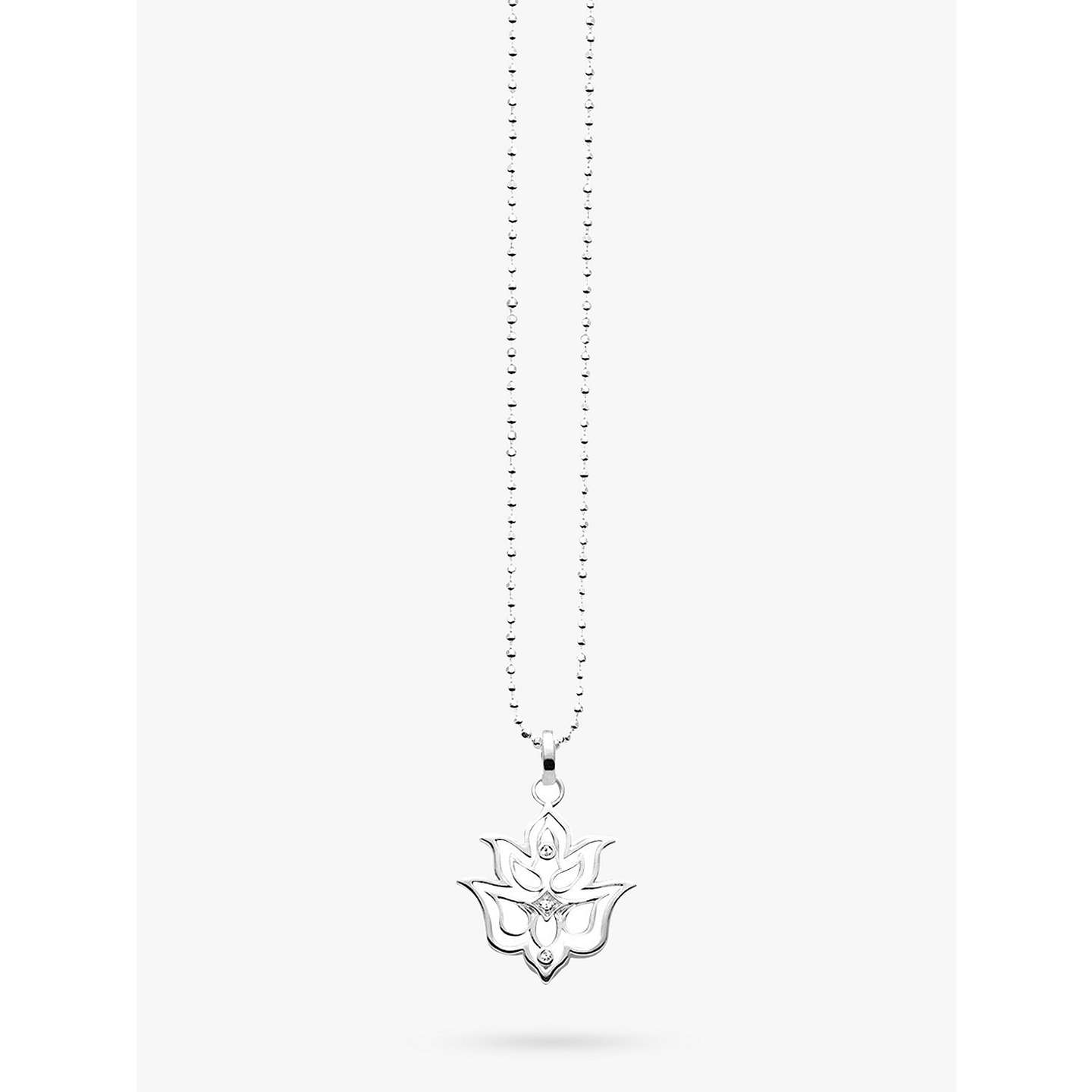Thomas sabo glam soul lotus flower pendant necklace silver at buythomas sabo glam soul lotus flower pendant necklace silver online at johnlewis izmirmasajfo