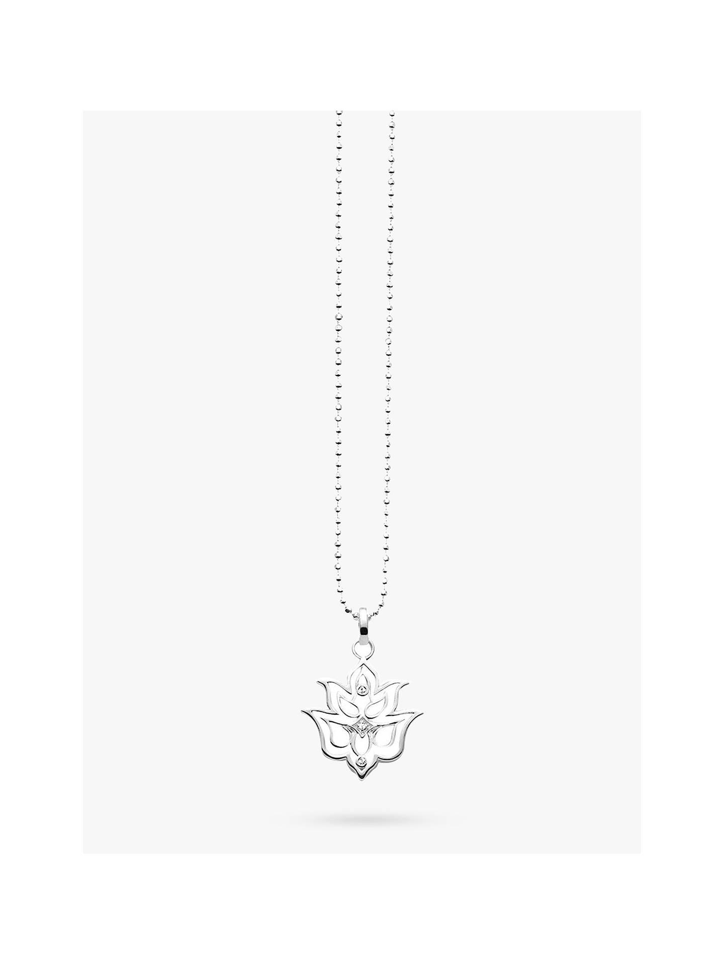 Thomas Sabo Glam Soul Lotus Flower Pendant Necklace Silver At