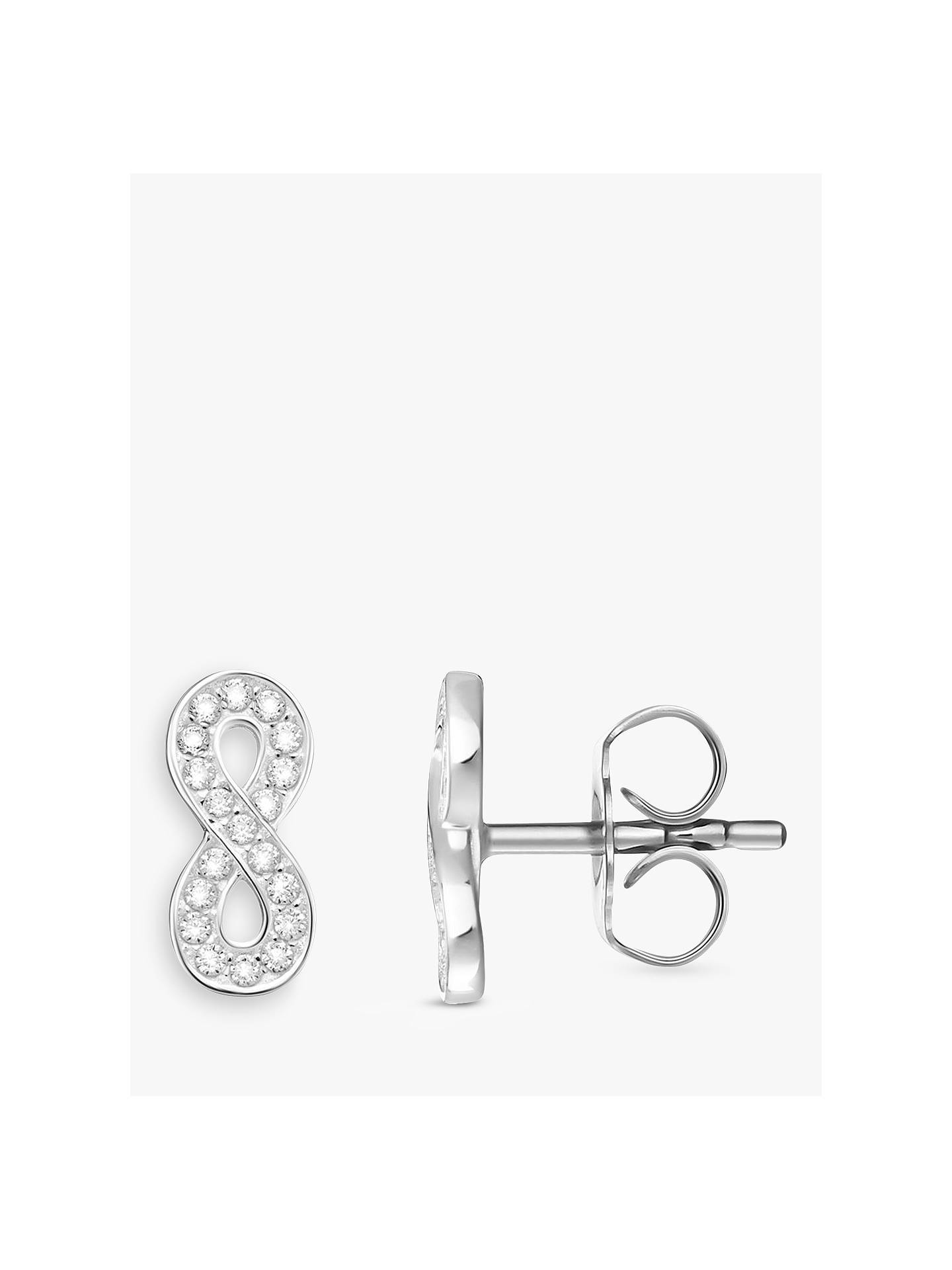 a485333f2 Buy THOMAS SABO Glam & Soul Infinity Stud Earrings, Silver Online at  johnlewis. ...