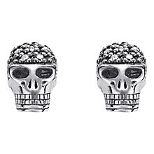 Buy Thomas Sabo Diamond Skull Stud Earrings, Silver Online at johnlewis.com