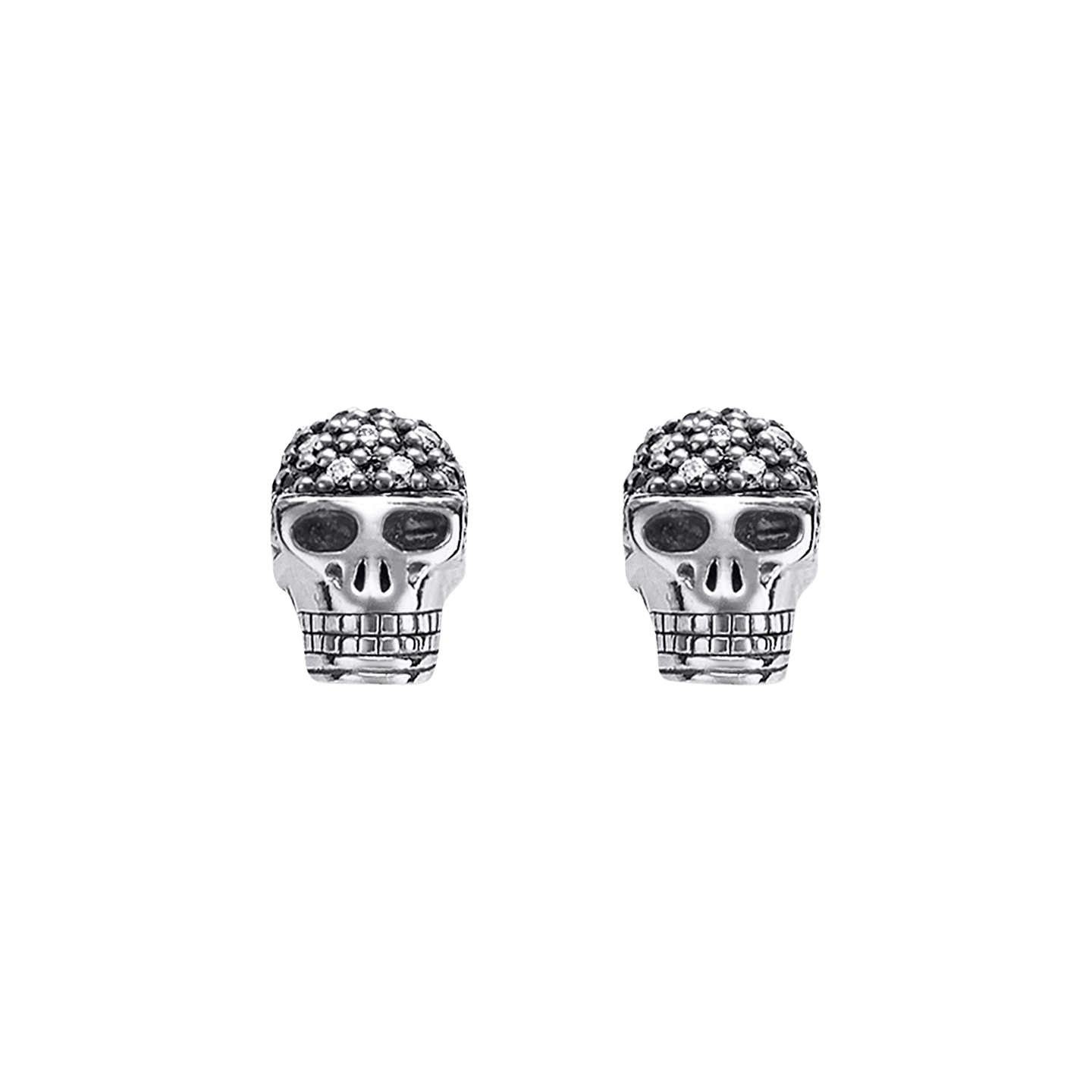 rose gold earrings stud shop jewellery skull leivankash