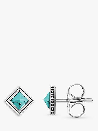THOMAS SABO Africa Square Stud Earrings, Turquoise