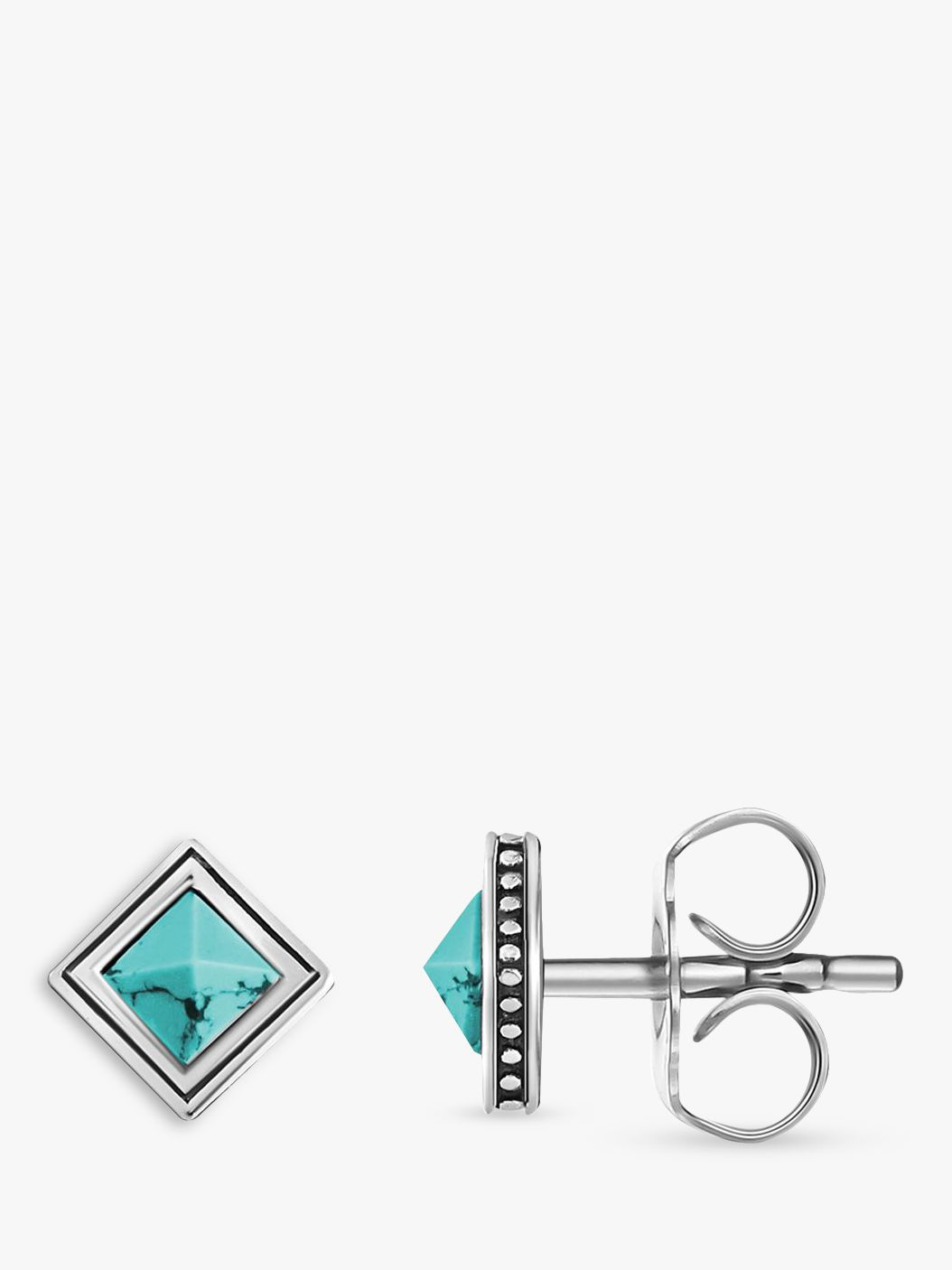 Thomas Sabo THOMAS SABO Africa Square Stud Earrings, Turquoise