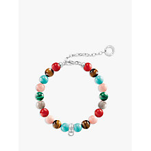 Buy Thomas Sabo Semi-Precious Stone Charm Bracelet, Multi Online at johnlewis.com