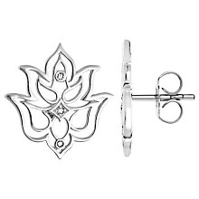 Buy Thomas Sabo Glam & Soul Lotus Flower Stud Earrings, Silver Online at johnlewis.com