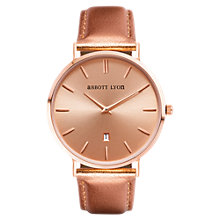 Buy Abbott Lyon Women's Stellar 40 Date Leather Strap Watch, Rose Gold Online at johnlewis.com