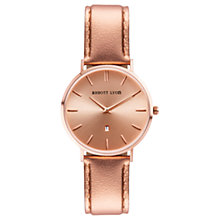 Buy Abbott Lyon Women's Stellar 34 Date Leather Strap Watch, Rose Gold Online at johnlewis.com