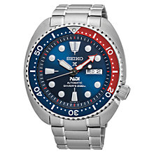 Buy Seiko SRPA21K1 Men's Prospex Padi Day Date Automatic Bracelet Strap Watch, Silver/Blue Online at johnlewis.com