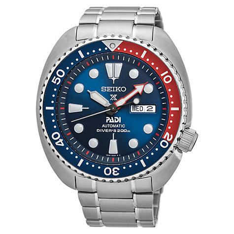 automatic or self winding men s watches john lewis buy seiko srpa21k1 men s prospex padi day date automatic bracelet strap watch silver blue