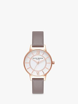 Olivia Burton Women's Wonderland Leather Strap Watch
