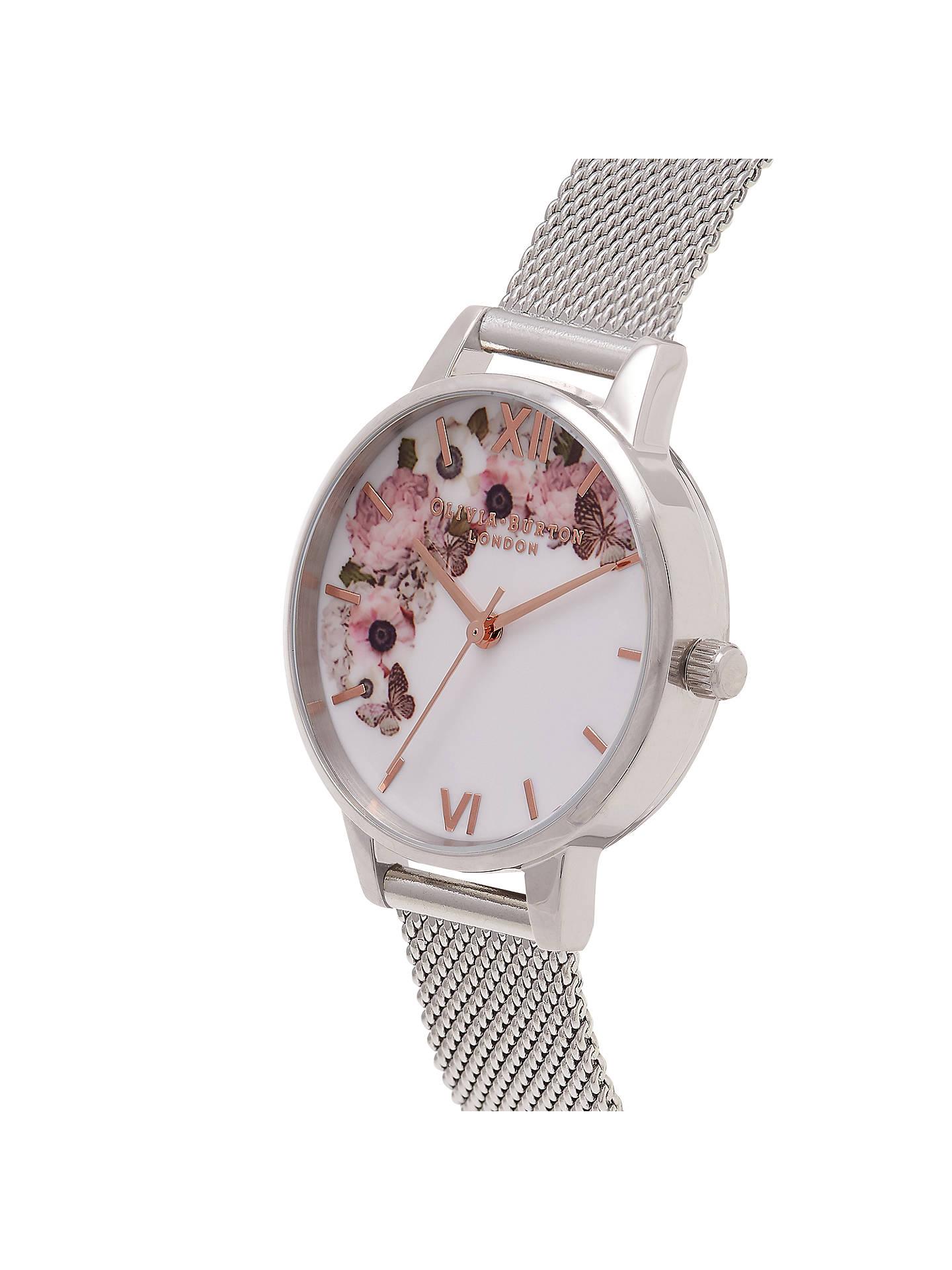 1dbe50f3ac7 ... Buy Olivia Burton OB16WG30 Women s Signature Florals Mesh Bracelet  Strap Watch