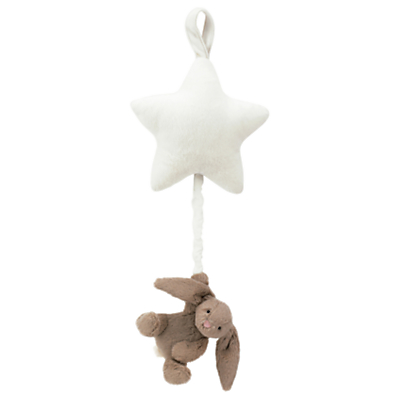 Jellycat Bunny Star Musical Pull, One Size, Brown