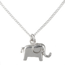 Buy John Lewis Children's Sterling Silver Lucky Elephant Necklace Online at johnlewis.com