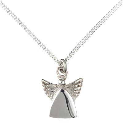 JOHN LEWIS   John Lewis & Partners Children'S Sterling Silver Guardian Angel Necklace   Goxip