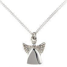 Buy John Lewis Children's Sterling Silver Guardian Angel Necklace Online at johnlewis.com