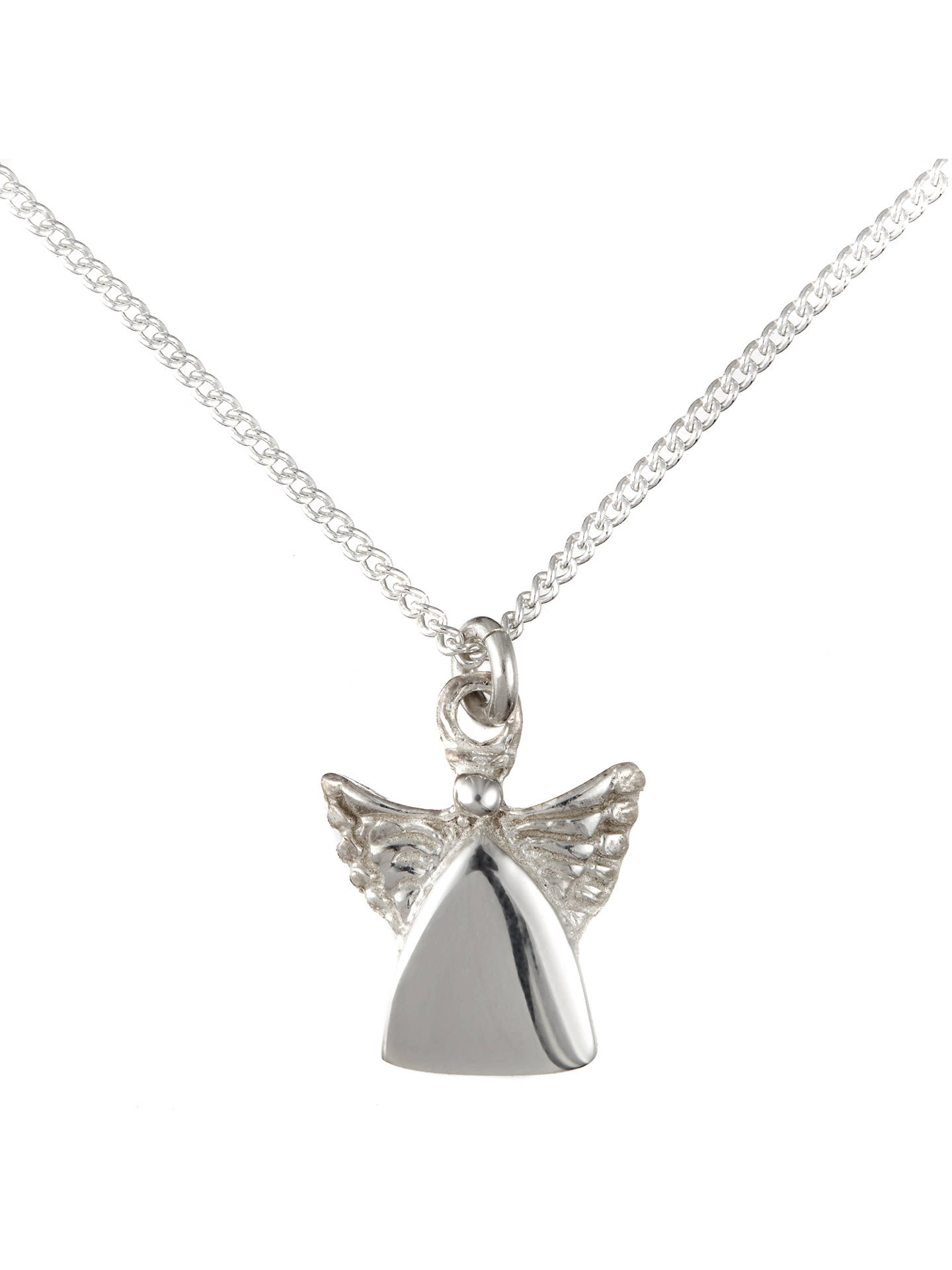 BuyJohn Lewis & Partners Children's Sterling Silver Guardian Angel Necklace Online at johnlewis.com