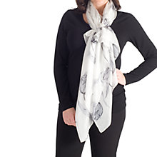 Buy Chesca Abstract Floral Printed Silk Scarf, Grey Online at johnlewis.com