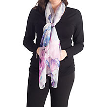 Buy Chesca Flower Printed Silk Scarf, Pink Online at johnlewis.com