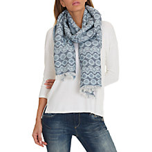 Buy Betty & Co. Long Woven Scarf, Dark Blue Online at johnlewis.com