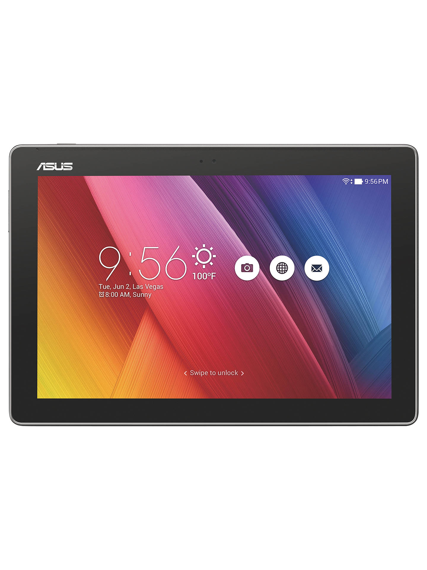 "BuyASUS Z300M ZenPad 10.0 Tablet, Android, 10.1"", Wi-Fi, 16GB, Grey Online at johnlewis.com"