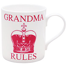 Buy Keith Brymer Jones Word 'Grandma Rules' Mug Online at johnlewis.com