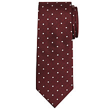 Buy Chester by Chester Barrie Herringbone Spot Silk Tie, Wine Online at johnlewis.com