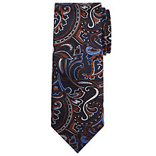 Buy Chester by Chester Barrie Paisley Silk Tie, Navy/Amber Online at johnlewis.com