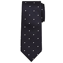 Buy Chester by Chester Barrie Spot Silk Tie, Navy/White Online at johnlewis.com