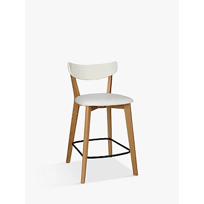 House by John Lewis Clio Bar Chair, Oak/White