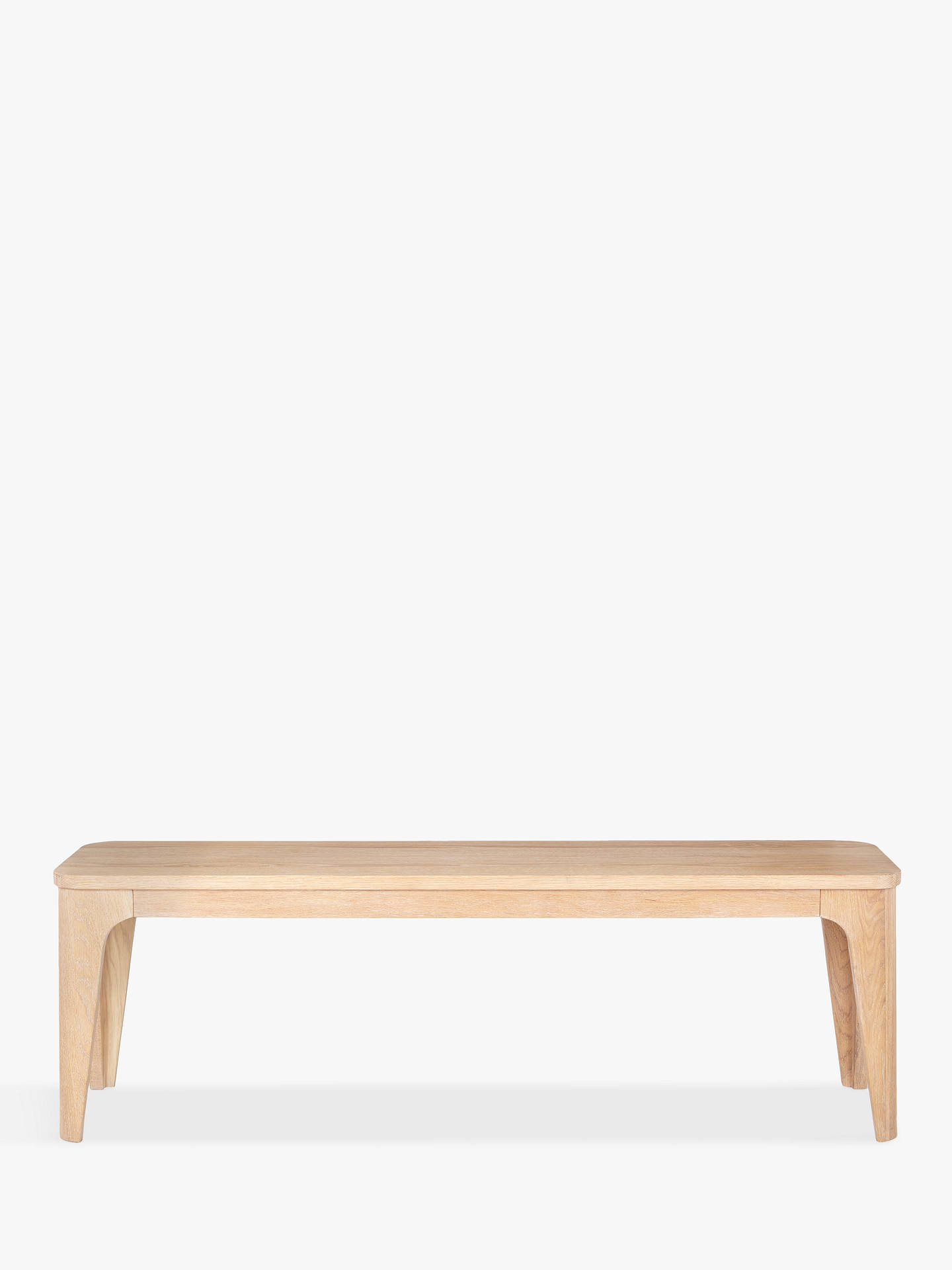 88c4a473e70f ... Buy Ebbe Gehl for John Lewis Mira 3-Seater Dining Bench, Oak Online at  ...