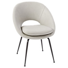 Buy west elm Orb Upholstered Dining Chair, Cement Online at johnlewis.com