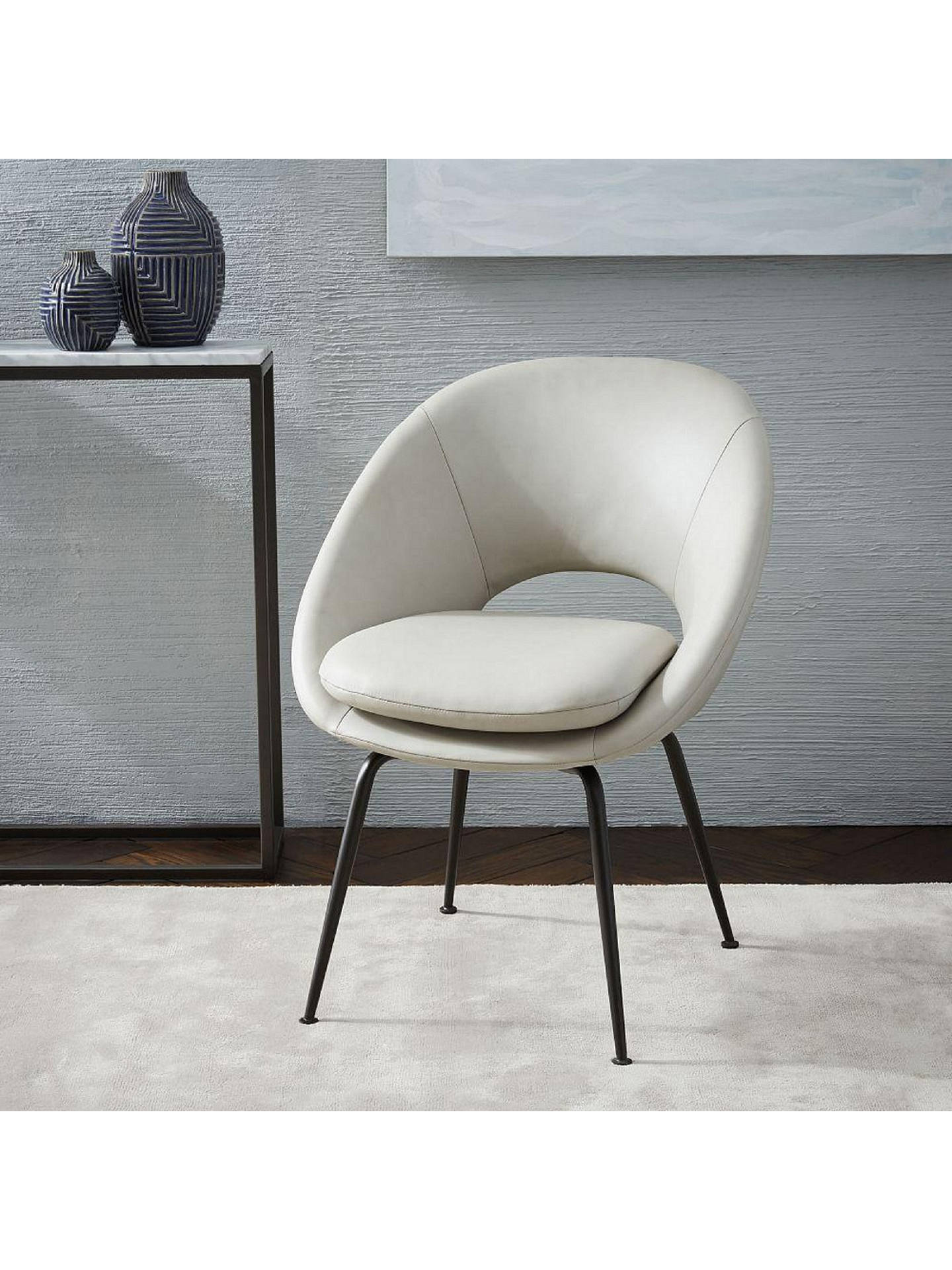 Terrific West Elm Orb Upholstered Dining Chair Cement At John Lewis Gmtry Best Dining Table And Chair Ideas Images Gmtryco