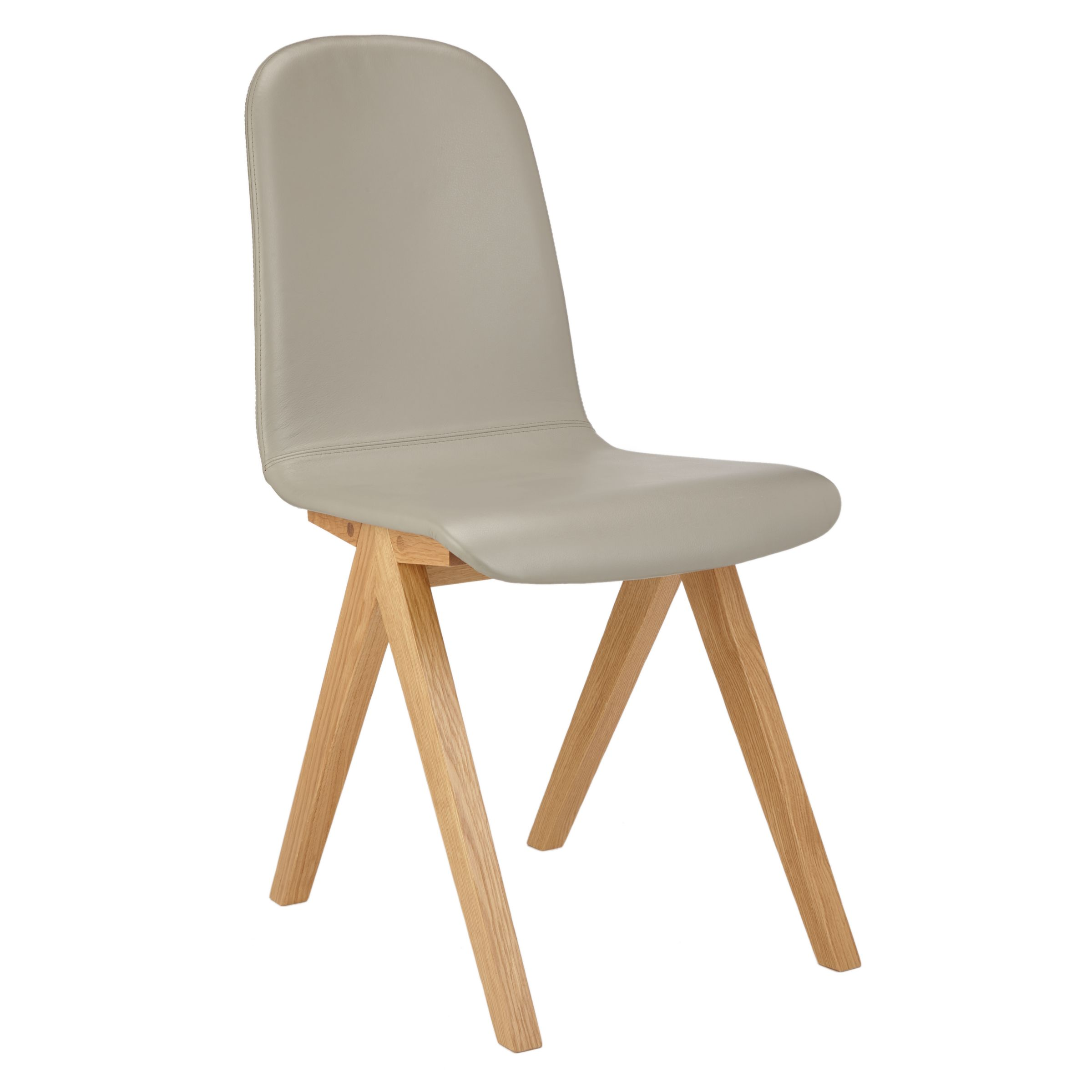 Bethan Gray for John Lewis Bethan Gray for John Lewis Newman Leather Upholstered Dining Chair, FSC-Certified